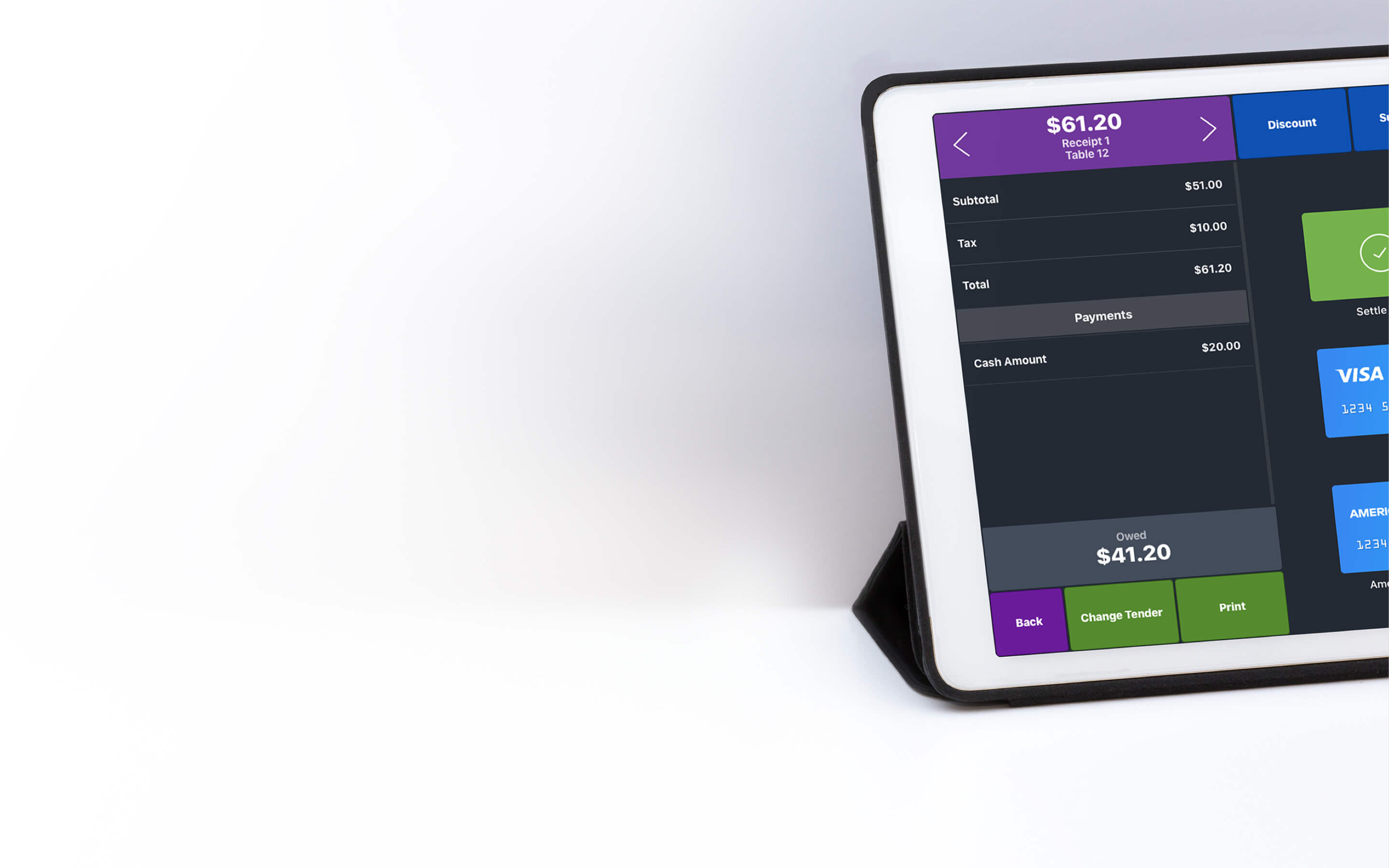 Image of iPad displaying IsleHelp Point of Sale System